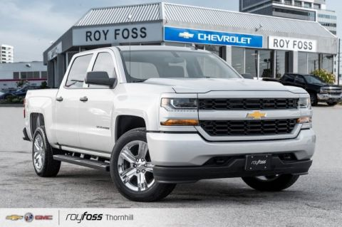 Pre-Owned 2018 Chevrolet Silverado 1500 Custom 4WD Crew Cab Pickup